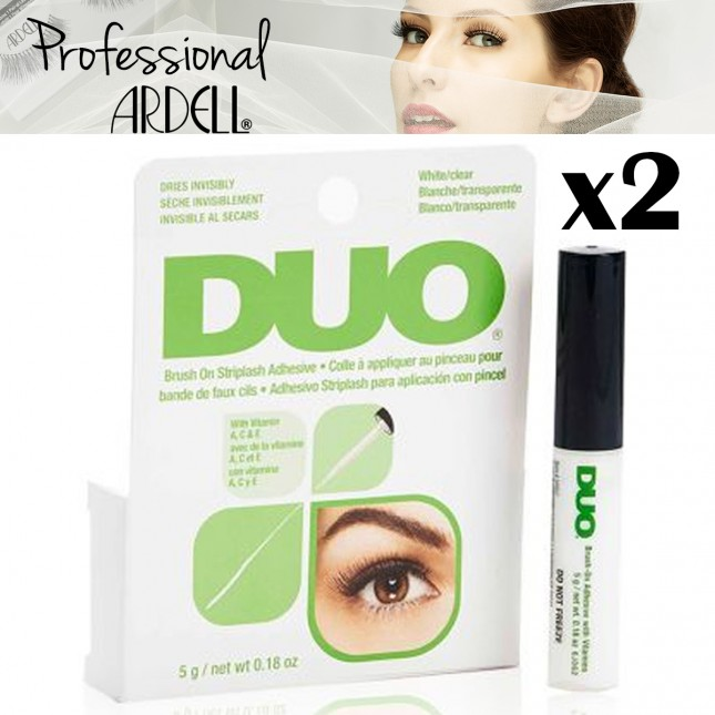 2x DUO Brush On StripLash Adhesive False Lashes with Vitamins Clear Salon Ardell