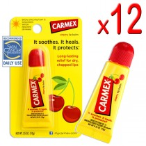 Carmex Cherry Lip Balm Tube 10g (Pack of 12)