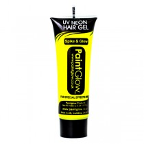 PaintGlow Neon UV Hair Gel 10ml Yellow