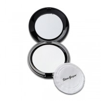 Stargazer Compact Pressed Powder Puff & Mirror White