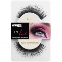 Amazing Shine 100% Natural Hair False Eyelashes High Quality Fake Eye Lashes 01