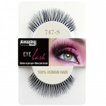 Amazing Shine 100% Natural Hair False Eyelashes High Quality Fake Eye Lash 747 S