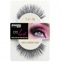Amazing Shine 100% Natural Hair False Eyelashes High Quality Fake Eye Lash 747 M