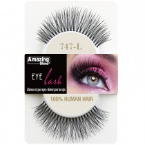 Amazing Shine 100% Natural Hair False Eyelashes High Quality Fake Eye Lash 747 L