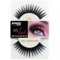 Amazing Shine 100% Natural Hair False Eyelashes High Quality Fake Eye Lashes 138