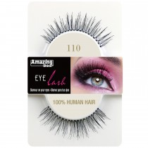 Amazing Shine 100% Natural Hair False Eyelashes High Quality Fake Eye Lashes 110