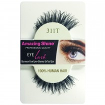 Amazing Shine 100% Natural Hair False Eyelashes High Quality Fake Eye Lash 311T