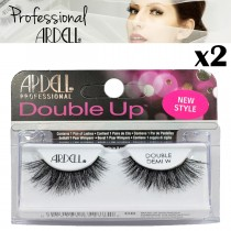 2x Ardell Professional Lashes Double Up Demi Wispies False Eyelashes - Black