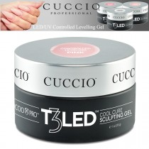 Cuccio T3 Gel LED/UV Controlled Levelling Viscosity Thick - Transparent Pink 28g