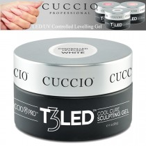 Cuccio T3 Gel LED/UV Controlled Levelling Sculpt & Smooth Viscosity - White 28g
