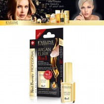 Eveline Argan Elixir Conditioner 8in 1 Intensely Regenerating Oil Cuticles Nails