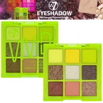 W7 Cosmetics Eyeshadow Palette Vivid Pressed Pigment Makeup Bright Neon - Green