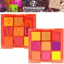 W7 Cosmetics Eyeshadow Palette Vivid Pressed Pigment Makeup Bright Neon - Orange