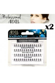 2x Ardell Individual Short Black Duralash Flare Eyelashes False Lash Cosmetics