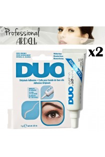 2x Ardell DUO Lash Adhesive Clear Glue Stick on False Lashes Salon Look 7g 0.25