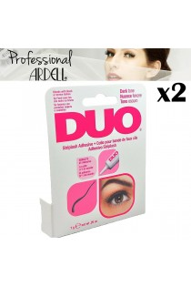 2x Ardell Cosmetics DUO Striplash Dark Tone Adhesive Waterproof Eyelash Glue 7g