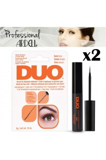 2x Ardell DUO Eye Lash Glue Brush On Striplash Adhesive Dark Tone Black or Brown